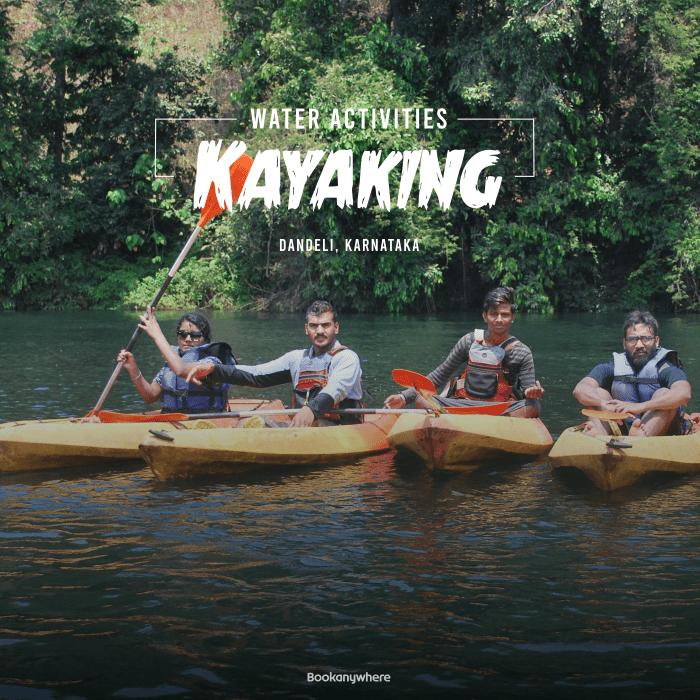 kayaking in the kali river of dandeli jungle resort packages