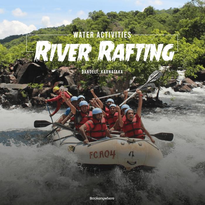river rafting in the kali river of dandeli jungle resort packages