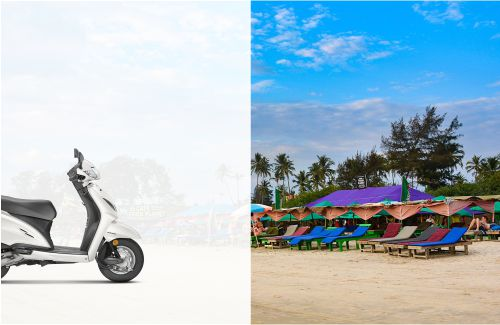 Rent a Bike in Colva South Goa